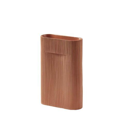 Muuto - Ridge Vase H 35 cm, terrakotta