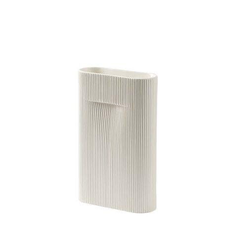 Muuto - Ridge Vase H 35 cm, off-white