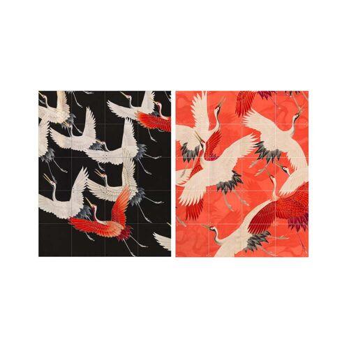 IXXI - Kimono mit Kranichen, 80 x 100 cm