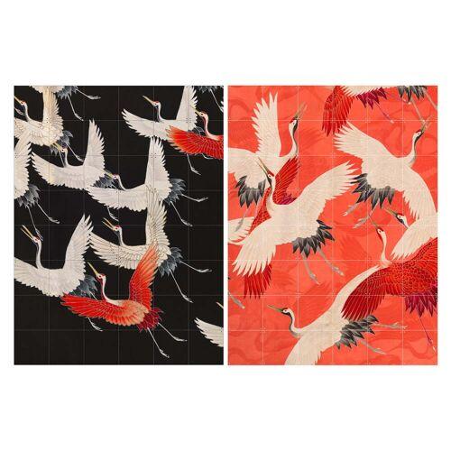IXXI - Kimono mit Kranichen, 120 x 160 cm