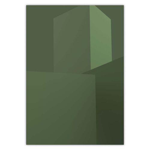 artvoll - Architektur Poster, grün, 50 x 70 cm