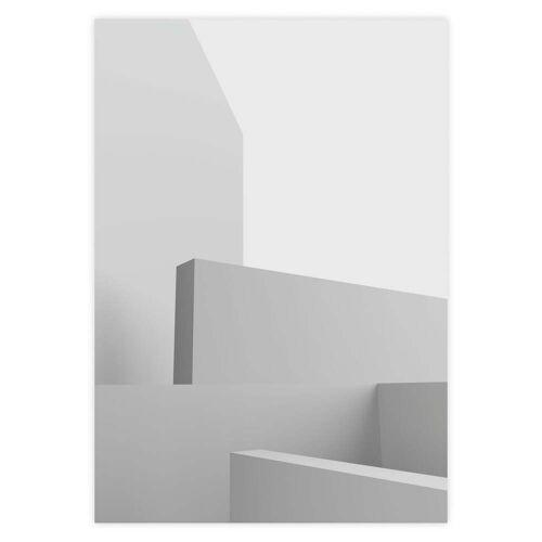 artvoll - Architektur Poster, weiß, 30 x 40 cm