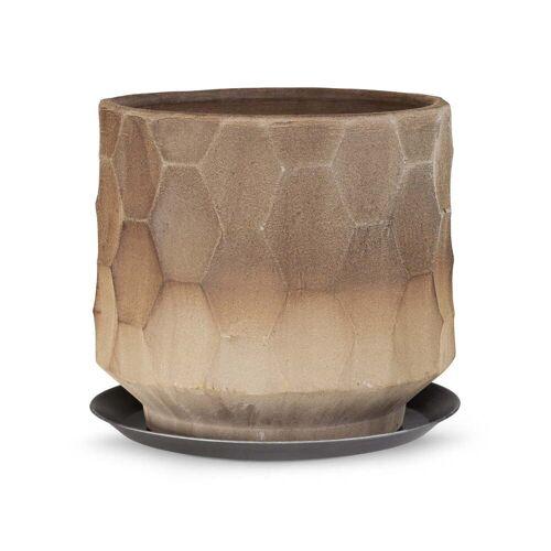 Kähler Design - Gro Übertopf mit Unterteller, Ø 34 cm, sand