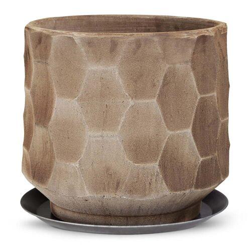 Kähler Design - Gro Übertopf mit Unterteller, Ø 43 cm, sand