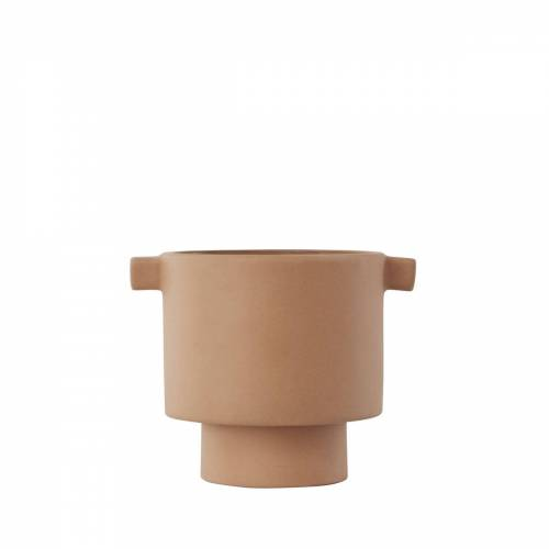 OYOY - Inka Kana Übertopf, Ø 10.5 x H 10.5 cm, caramel
