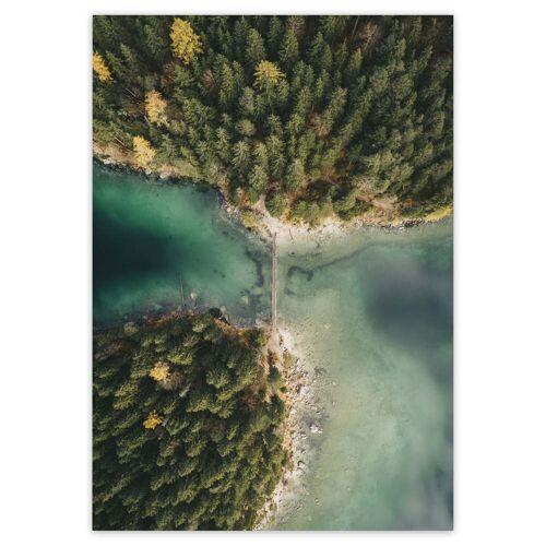 artvoll - Forest Lake Poster, 50 x 70 cm