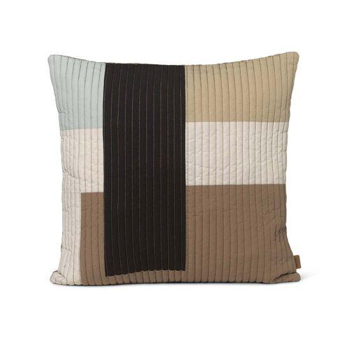 ferm LIVING - Shay Quilt Kissen, 50 x 50 cm, desert