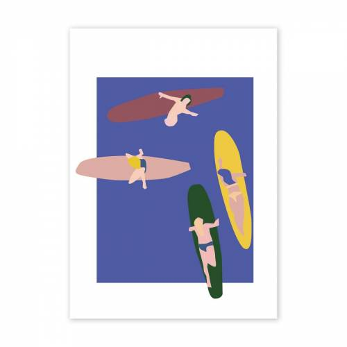 Paper Collective - Surfers Poster, 50 x 70 cm