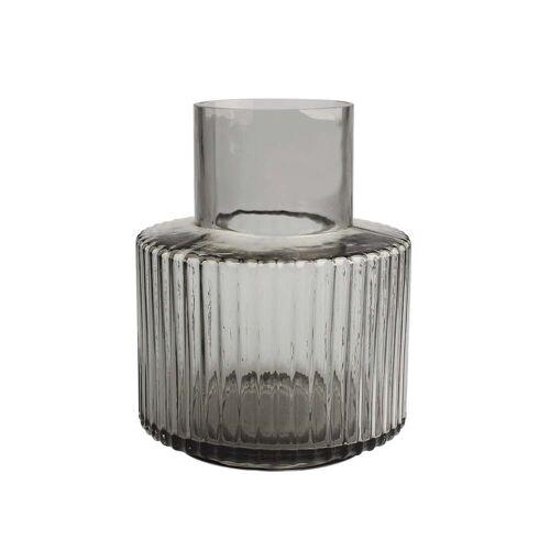 Connox Collection - Ripple Vase Ø 17 x H 21 cm, grau