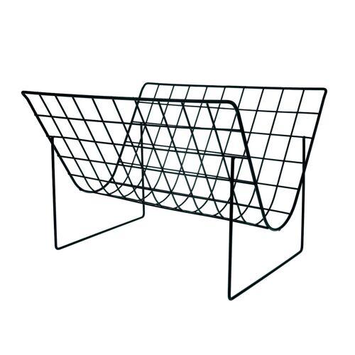 HKliving - Wire Zeitschriftenhalter, schwarz