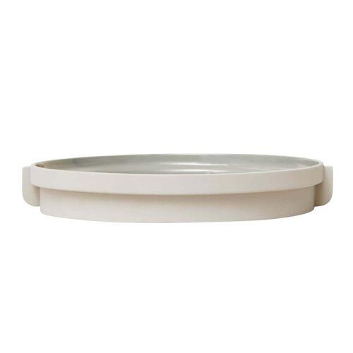 Form & Refine - Alcoa Tablett, Ø 30 cm, hellgrau