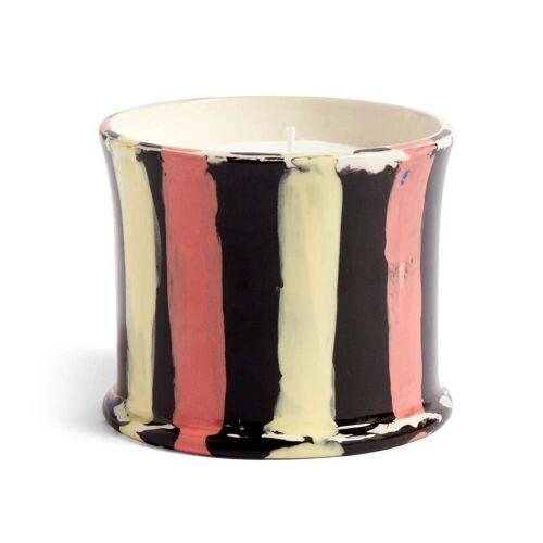 HAY - Stripe Duftkerze, Ø 10 x H 8,5 cm, Orangenblüte