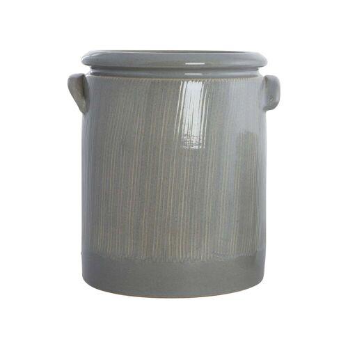 House Doctor - Pottery Blumentopf M, Ø 19 x H 24 cm, hellgrau