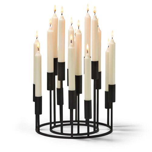 Philippi - Illuminati Kerzenhalterset (2-teilig), schwarz