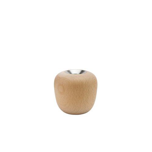 Stelton - Ora Kerzenständer, Ø 8,5 x H 8 cm, Buche