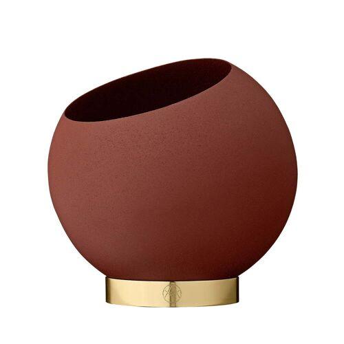 AYTM - Globe Blumentopf, Ø 17 x H 15,4 cm, ginger bread
