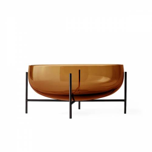 MENU - Échasse Schale L, amber / bronzed brass