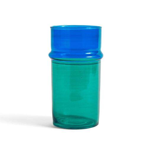 HAY - Marokkanische Vase L, blau und grün