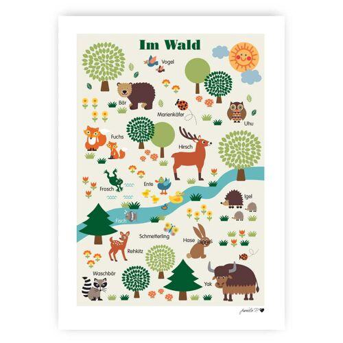 byGraziela - Waldtiere Poster, 50 x 70 cm