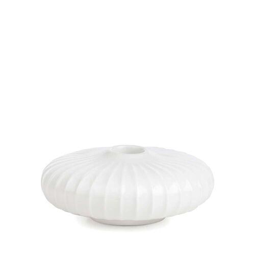 Kähler Design - Hammershøi Kerzenständer, Ø 11,5 x H 4,5 cm, weiß