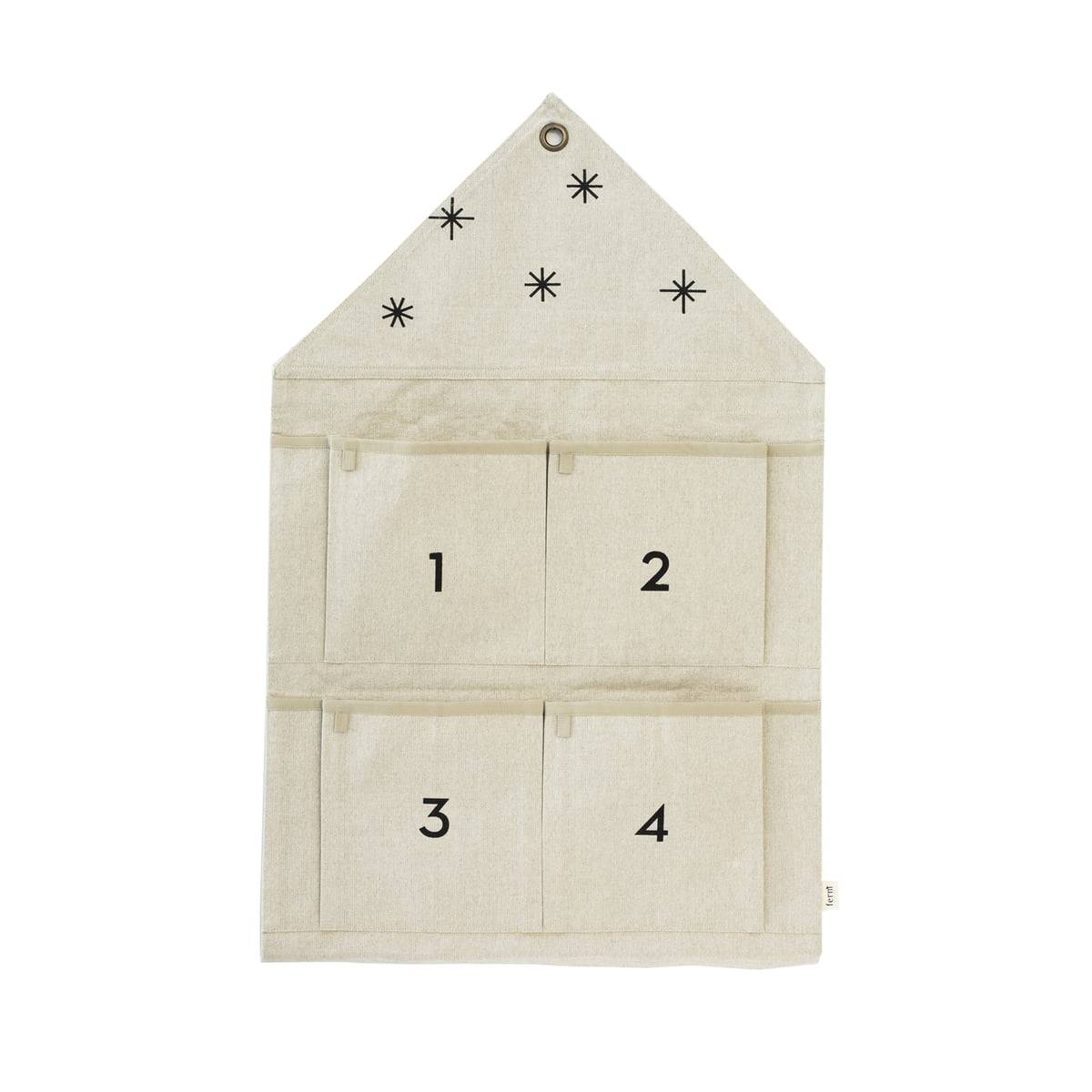 ferm LIVING - House Adventskalender 4 Fächer, sand