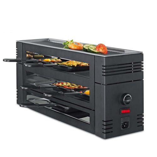 Spring - Pizza Raclette 6 mit Alu-Grillplatte, schwarz