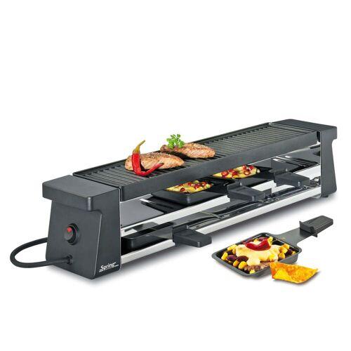 Spring - Raclette 4 Compact, schwarz mit Alugrillplatte EU