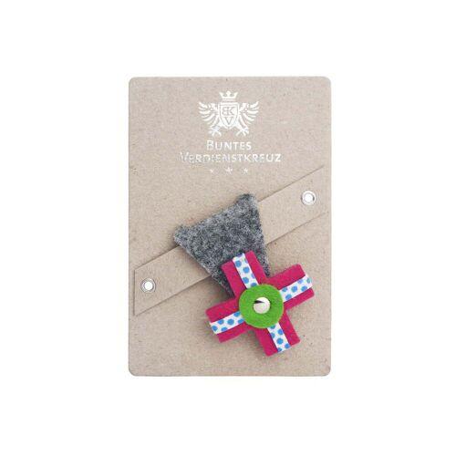 vonbox - Buntes Verdienstkreuz, grau / pink