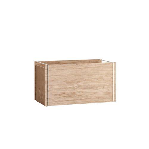 MOEBE - Aufbewahrungsbox, Eiche / weiß