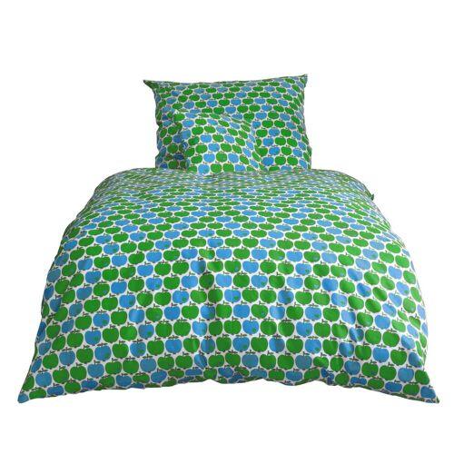byGraziela - Kinderbettwäsche Apfel, blau / grün