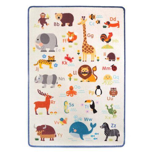 byGraziela - Spielteppich Tier ABC, 90 x 130 cm