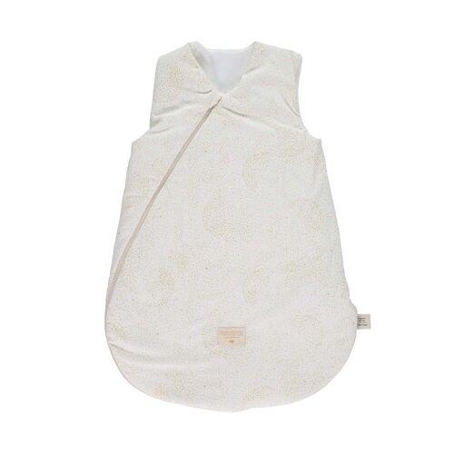 Nobodinoz - Cocoon Baby-Schlafsack 6-18 Monate, gold bubble / white