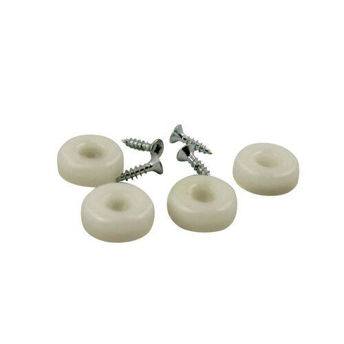 Vitra - Kunststoffgleitersatz für Plastic Chair DSW / DAW, 4er-Set, weiß