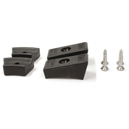 Thonet - Gleiter für Stahlrohr-Freischwinger (4er-Set), Kunststoff, schwarz