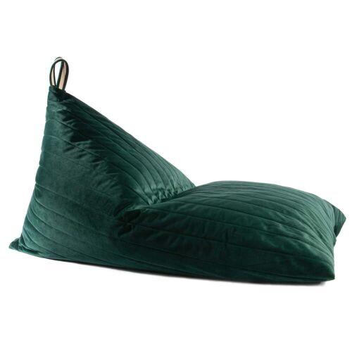 Nobodinoz - Essaouira Sitzsack aus Samt, 115 x 77 cm, jungle green