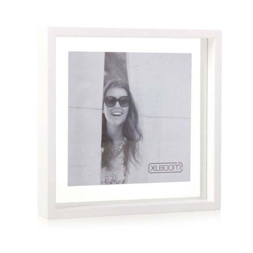 XLBoom - Square Floating Box Bilderrahmen 25 x 25 cm, weiß