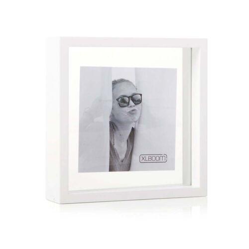 XLBoom - Square Floating Box Bilderrahmen 20 x 20 cm, weiß