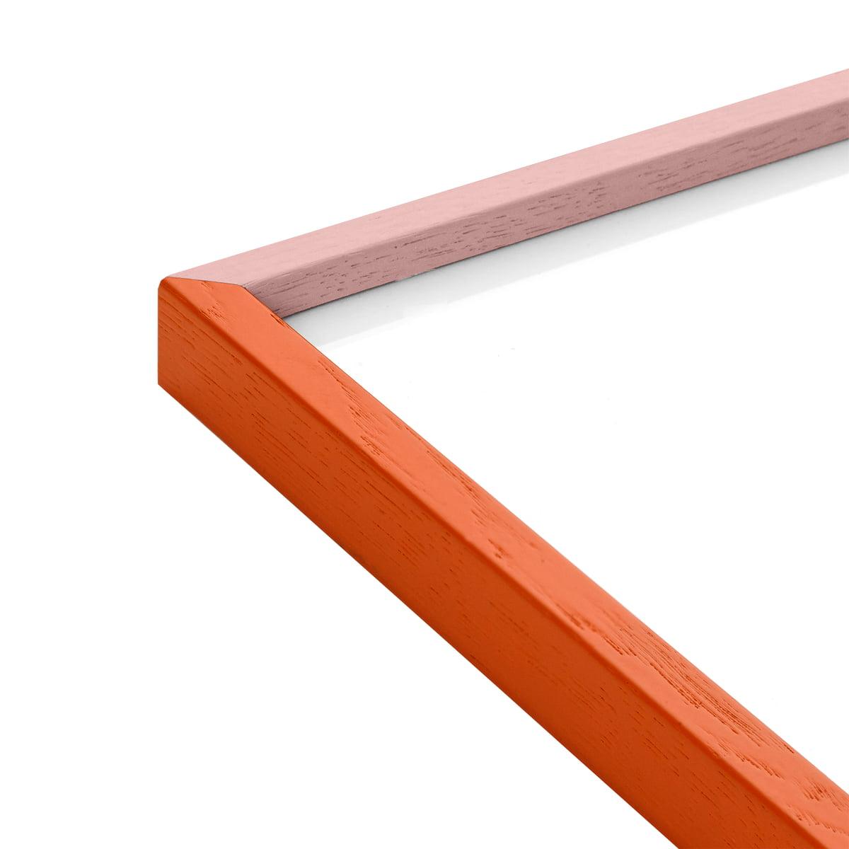 Paper Collective - Bilderrahmen 30 x 40 cm, Eiche orange / pink