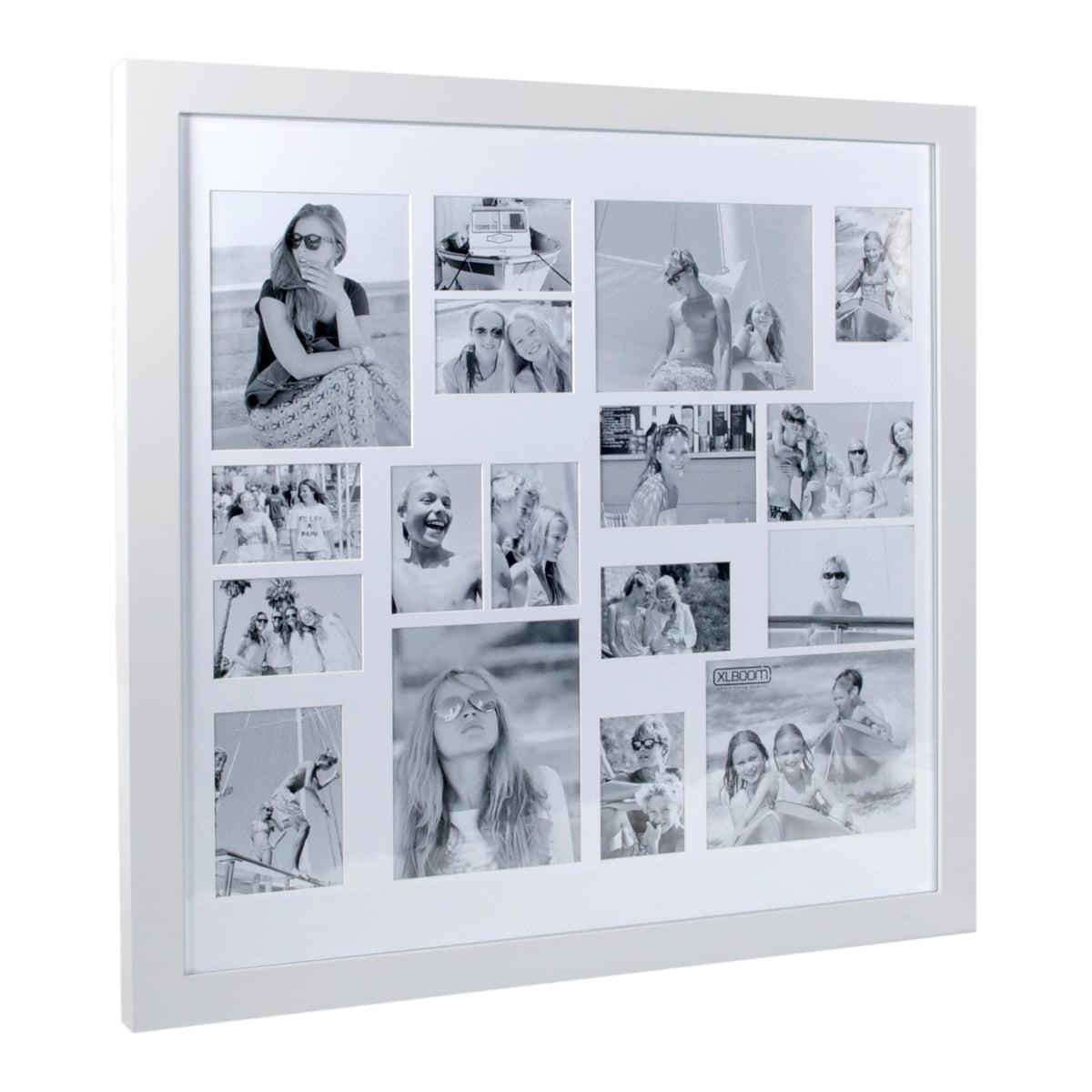 XLBoom - Multi Photo Rahmen für 17 Bilder, weiß