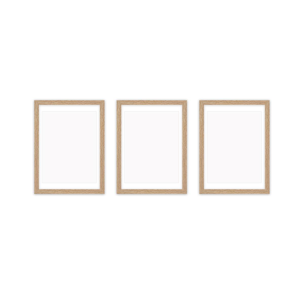 Collection - Frame it Bilderrahmen-Set 3tlg., 21 x 30 cm, Eiche geweißt