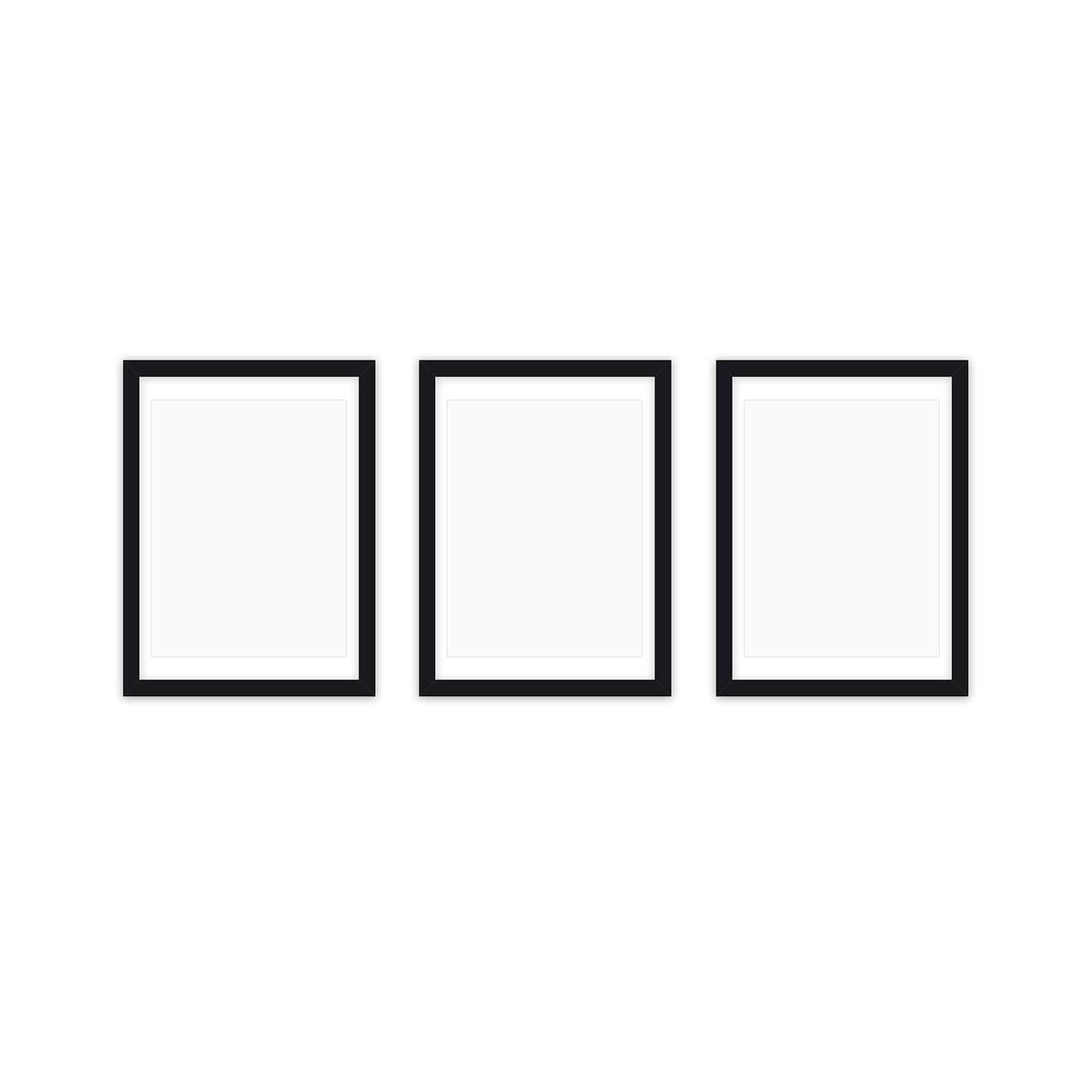 Collection - Frame it Bilderrahmen-Set 3tlg., 21 x 30 cm, schwarz