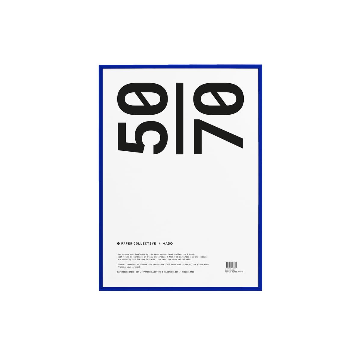 Paper Collective - Bilderrahmen 50 x 70 cm, Kiefer blau