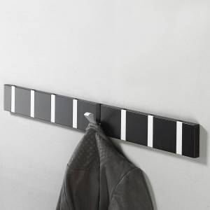 LoCa - Knax 10 Garderobenleiste, Eiche geölt / grau