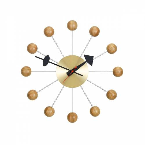 Vitra - Ball Clock Wanduhr, Kirschbaumholz