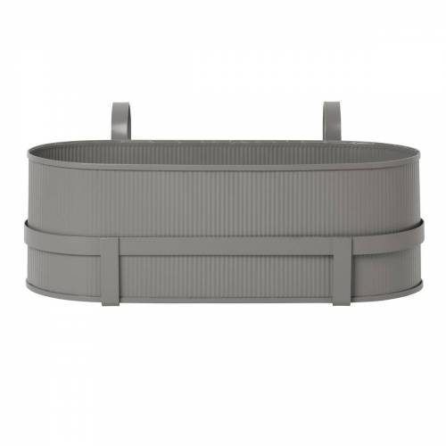 ferm LIVING - Bau Balcony Box, warm grey