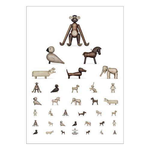 Kay Bojesen - Sehtest Poster, 50 x 70 cm, braun / weiß