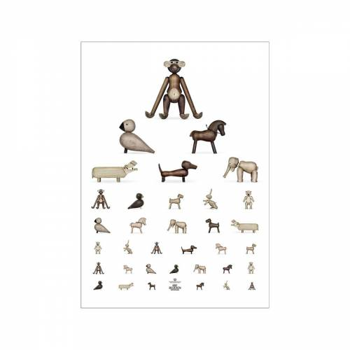 Kay Bojesen - Sehtest Poster, 30 x 40 cm, braun / weiß