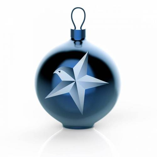 Alessi - Blue Christmas Christbaumkugeln, Stern