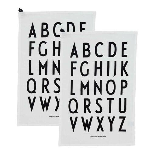 Design Letters - Classic Geschirrtuch, weiß (2er-Set)