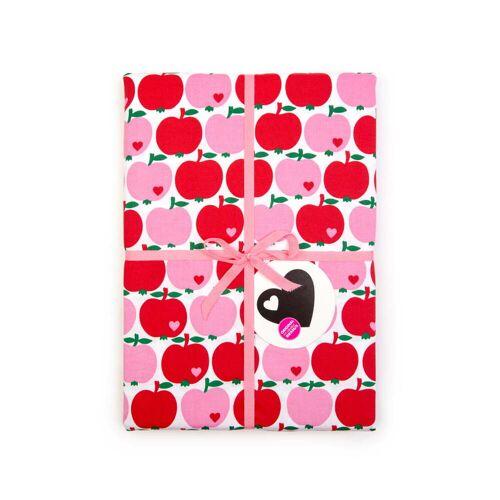 byGraziela - Bettwäsche Apfel, 135 x 200 cm, rot / pink